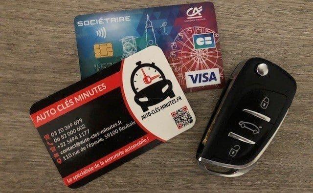 prise en charge assurance carte bancaire pour reproduction clés de voiture